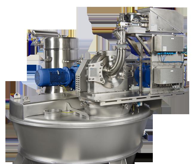 UPZ mill, mounted on a Nauta mixer